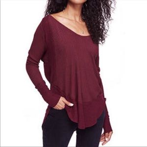 Free people Catalina thermal in maroon Sz L
